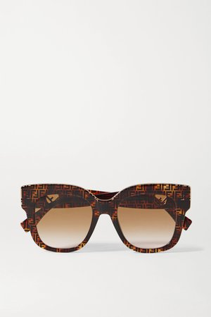 Tortoiseshell D-frame tortoiseshell acetate and gold-tone sunglasses | Fendi | NET-A-PORTER