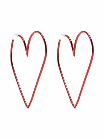 Isabel Marant Heart Hoop Earrings - Farfetch