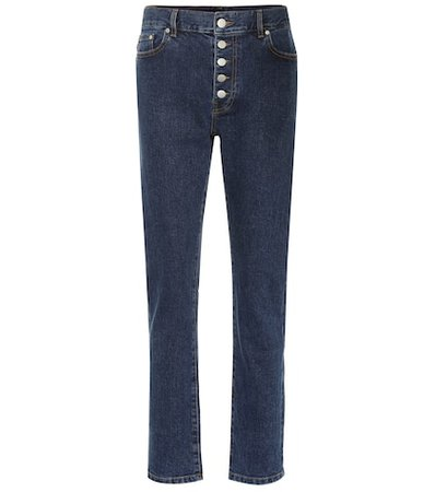 Den high-rise straight-leg jeans