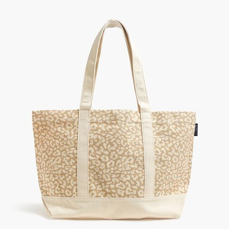Structured canvas tote bag
