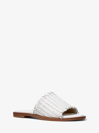 Dee Woven Leather Slide Sandal