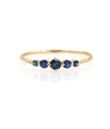 Large Sapphire Oceana Ring - Audry Rose