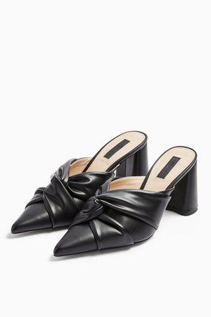 FRIDA Black Knot Mules | Topshop