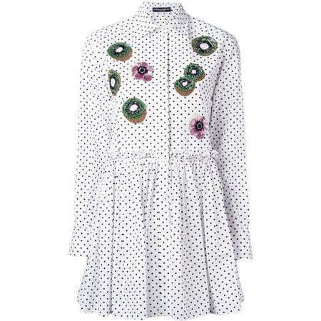Dolce & Gabbana floral kiwi appliqué long shirt ($2,520)