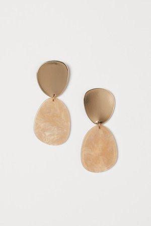 Store øreringe - Guld/Lys beige - DAME   H&M DK