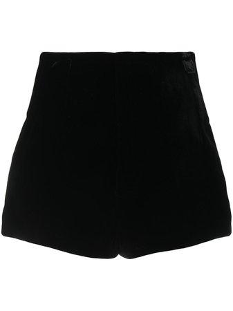 Saint Laurent high-waisted velvet-effect Shorts - Farfetch