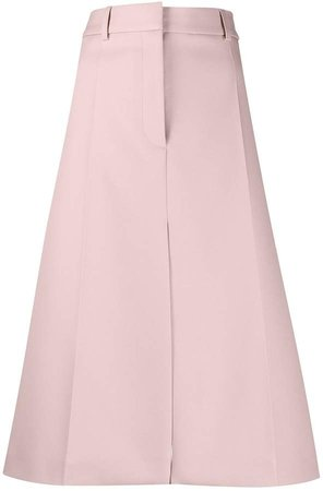 high-waisted A-line skirt