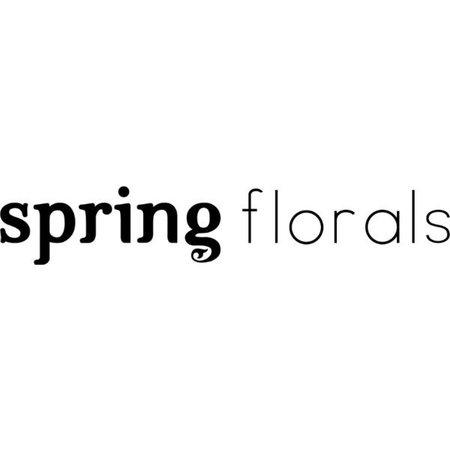 spring florals text