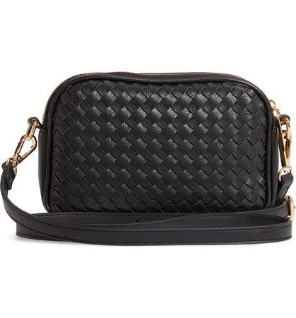 Mali + Lili Ava Woven Vegan Leather Crossbody Bag | Nordstrom