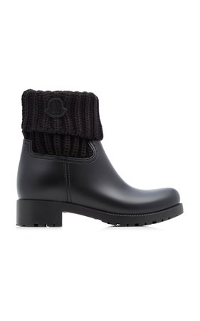 Ribbed Rubber Ankle Boots By Moncler | Moda Operandi