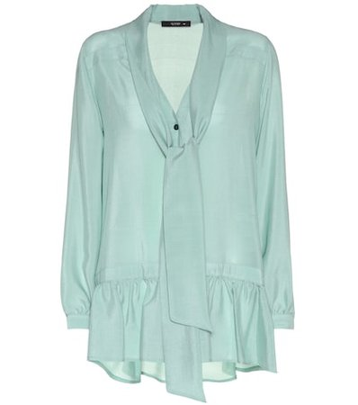 Silk-crêpe blouse