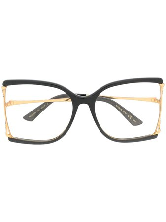 Lentes con contraste en el armazón Gucci Eyewear - Compra online - Envío express, devolución gratuita y pago seguro