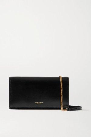Leather Shoulder Bag - Black
