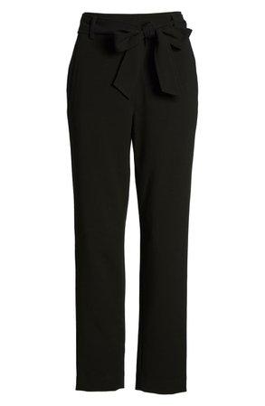 Halogen® Tie Waist Twill Ankle Pants (Regular & Petite) | Nordstrom