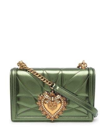 Shop Dolce & Gabbana Devotion crystal-embellished shoulder bag with Express Delivery - FARFETCH