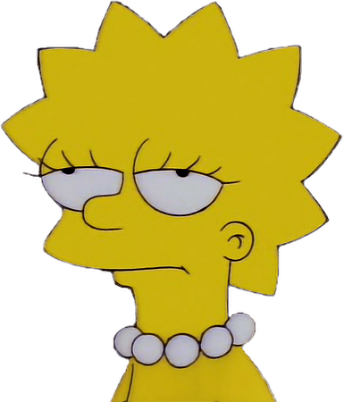 Lisa simpsons depressed retro sad...
