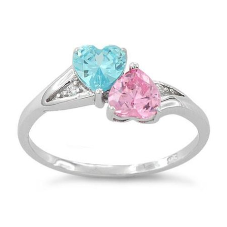 Pink and blue ring