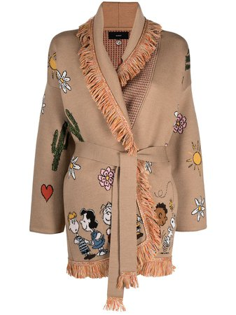 Alanui Love intarsia-knit Cardigan - Farfetch