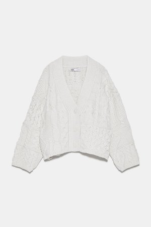 CABLE - KNIT CARDIGAN | ZARA International