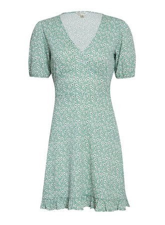 Sage Green Fit and Flare Dress | Miss Selfridge