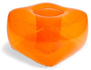 Bubble Inflatables Inflatable Ottoman, Tangerine Orange