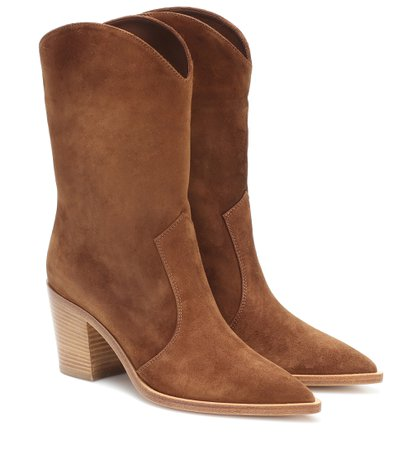 Denver Suede Ankle Boots   Gianvito Rossi - Mytheresa