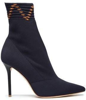 Jacquard-knit Ankle Boots