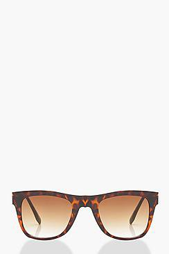 Ria Contrast Tortoiseshell Square Sunglasses