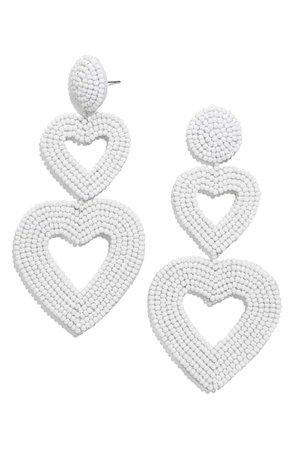 BaubleBar Double Heart Beaded Drop Earrings | Nordstrom