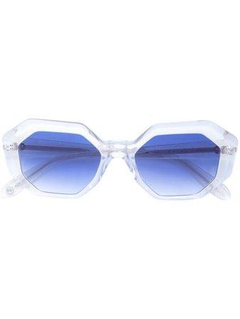 Garrett Leight Jacqueline sunglasses blue 2063 - Farfetch