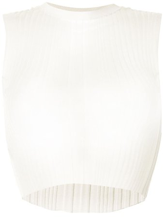 Dion Lee Sheer Pleated Tank Top Ss20 | Farfetch.Com