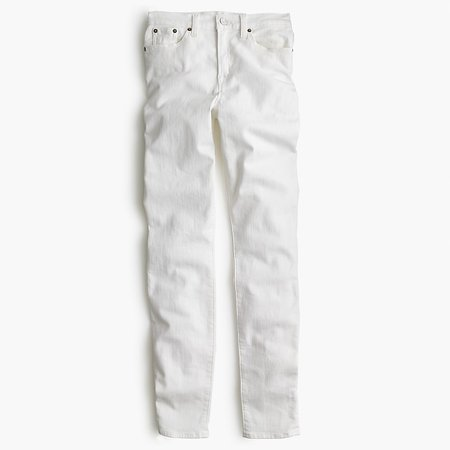 J.Crew: 9 High-rise Toothpick Jean In White For Women