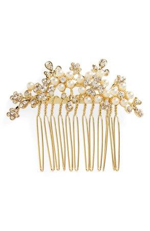 L. Erickson Elle Crystal & Imitation Pearl Hair Comb | Nordstrom