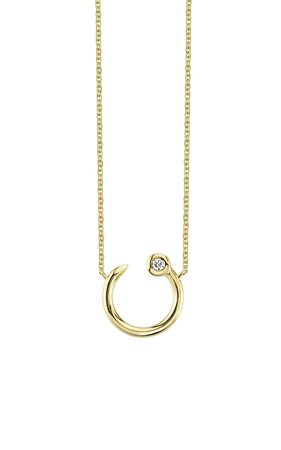 Sydney Evan Small Round Nail Necklace