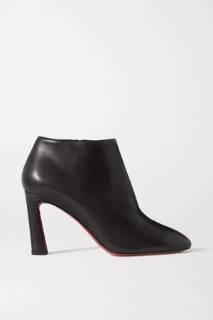 Eleonor 85 Leather Ankle Boots - Black