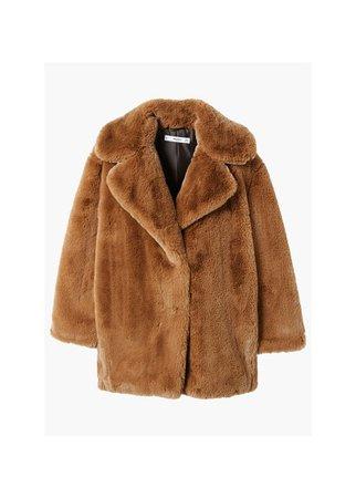 MANGO Faux fur coat