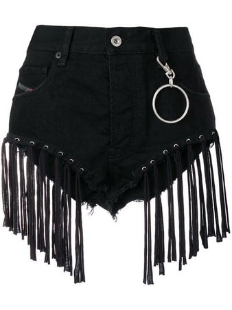 Diesel fringed shorts in denim $198 - Buy Online SS19 - Quick Shipping, Price
