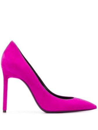 Purple Saint Laurent Zoe 105Mm Pumps   Farfetch.com