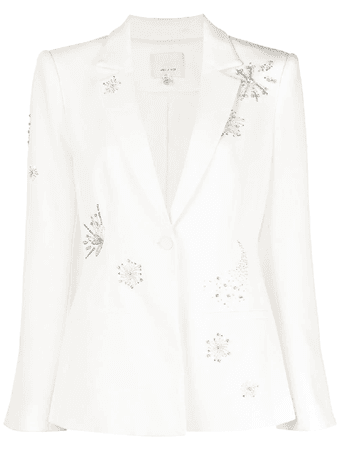 Cinq À Sept Rumi Shooting Star Embellished Blazer In White | ModeSens