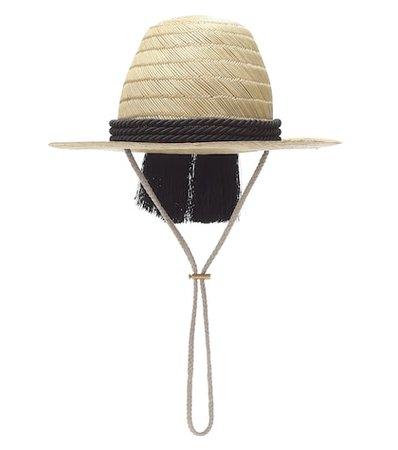 Embellished straw hat