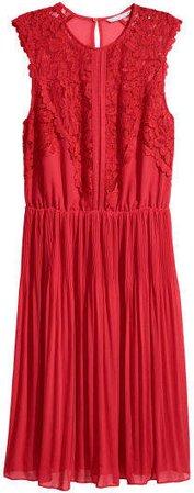 Chiffon Dress - Red