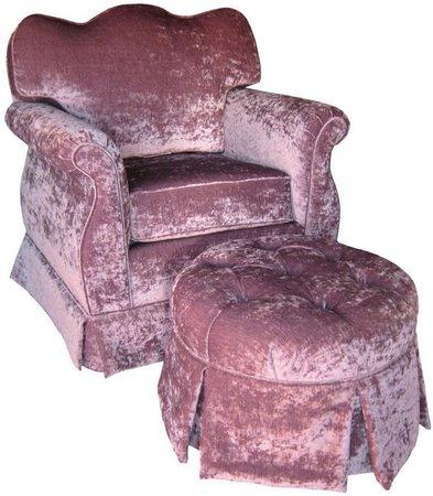purple velvet chair png