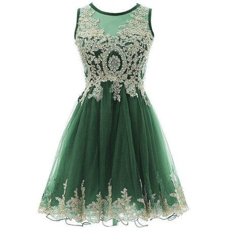 Pinterest HEIMO Gold Lace Beaded Homecoming Dresses Short Sequined Appliques ...