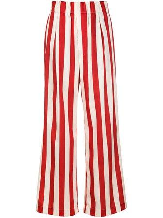 Jejia vertical-stripe Flared Trousers - Farfetch