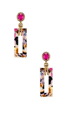 Elizabeth Cole Gaylen Earring in Multi | REVOLVE