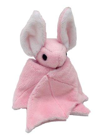 pink stuffed animal bat
