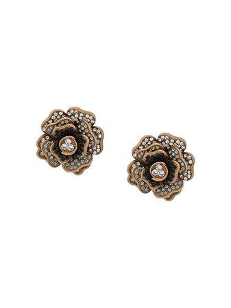 Dolce & Gabbana Embellished Floral Studs