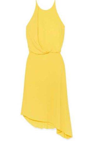 Halston Heritage | Asymmetric draped crepe dress | NET-A-PORTER.COM
