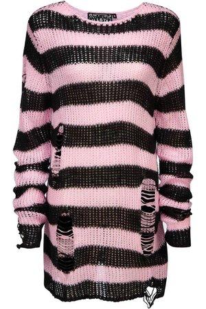 Courtney Distress Knit Sweater [B] | KILLSTAR - US Store