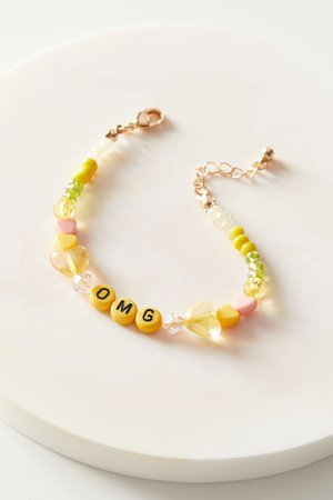 OMG Beaded Bracelet | Urban Outfitters